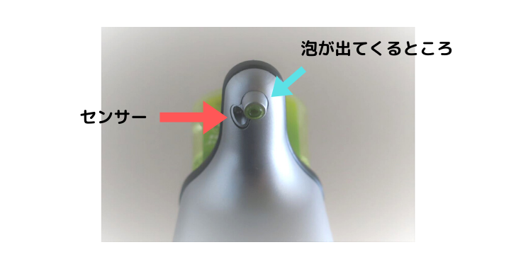 ミューズノータッチ泡ハンドソープの部位名称画像